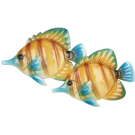 Tenture Murale Poisson Tropical, Decoration Murale En Fer, 16,1 ""