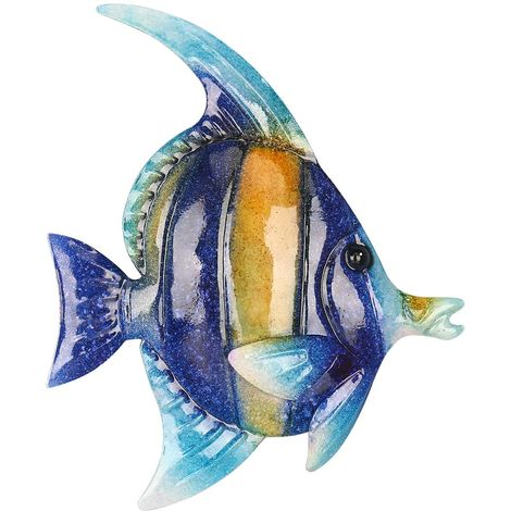 Tenture Murale Poisson Tropical, Decoration Murale En Fer, 7,9 ""