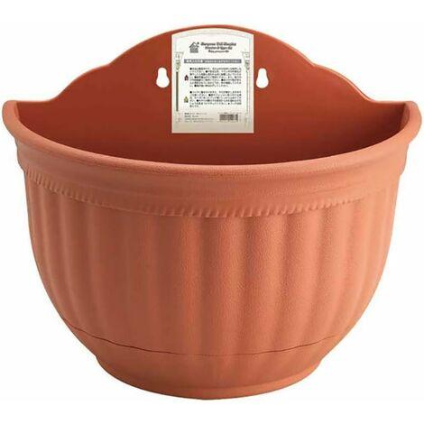 """main image of """"Tenture murale Pot de fleurs Imitation peau Grain suspendu bassin planteur demi-cercle créatif stockage d'eau Pot de fleurs décoratif pour la maison"""""""