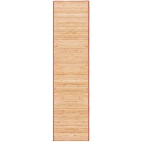 Teppich Bambus 80×300 cm Braun