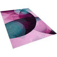 Teppich rosa-grün 160 x 230 cm Kurzflor EDESA