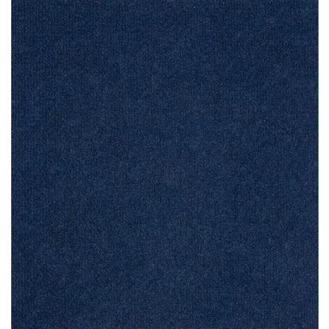 Teppichboden Bodenbelag 200x400 cm Blau Nadelfilz Rips