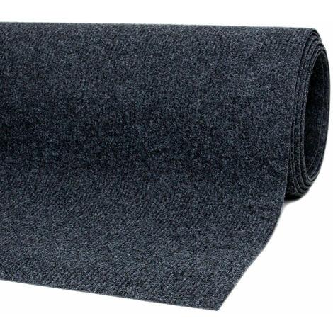 Teppichboden Bodenbelag Nadelfilz Auslegware verschiedene Längen Nadelvlies Rips Anthrazit 2m Breite