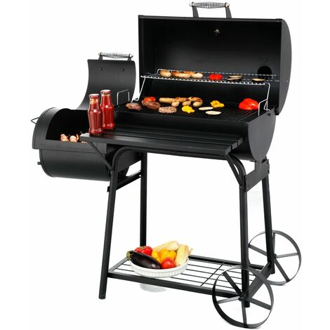 Tepro Smoker Garten Barbecue Grill Grillwagen Holzkohlengrill Kohlegrill Biloxi