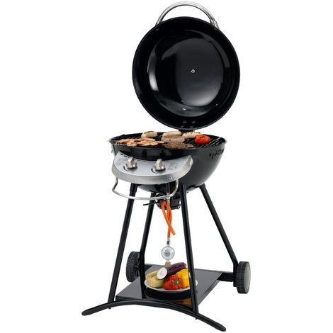 Tepro Gasgrill Hillside Outdoor Cooking Gas Grill Kugelgrill mit Rollen schwarz