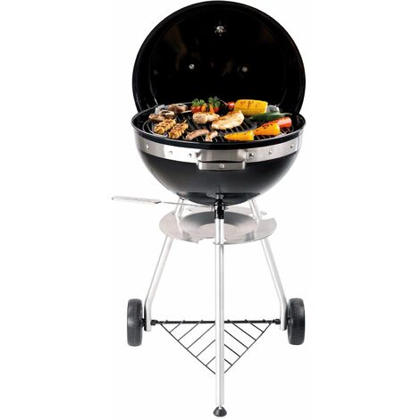 Tepro Kugelgrill Holzkohlegrill Pensacola mit Rollen 43,5 cm Standgrill Grill