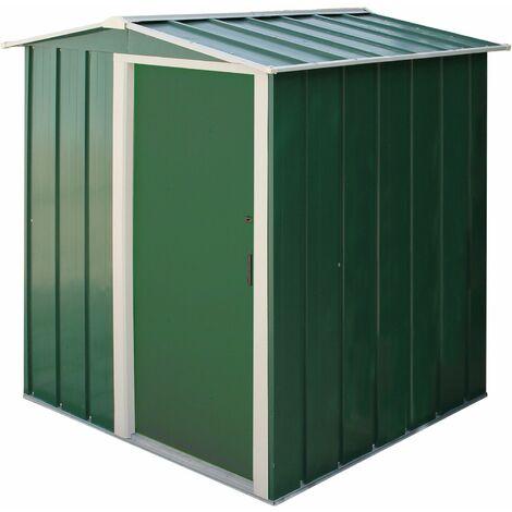 Tepro Metall-Gerätehaus Eco 5x4 m Gartenhaus Geräteschuppen Gartenschuppen grün