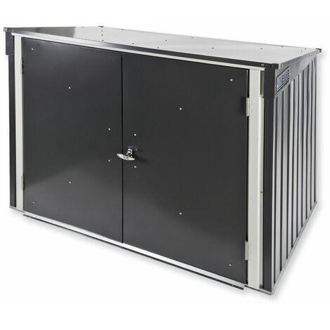 Tepro Metall Mülltonnenbox Gartenbox Müllbox Aufbewahrungsbox