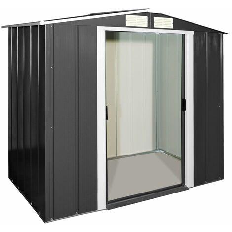 Tepro Metallgerätehaus Geräteschuppen Gartenhaus Metall Eco 6x4 mit Giebeldach
