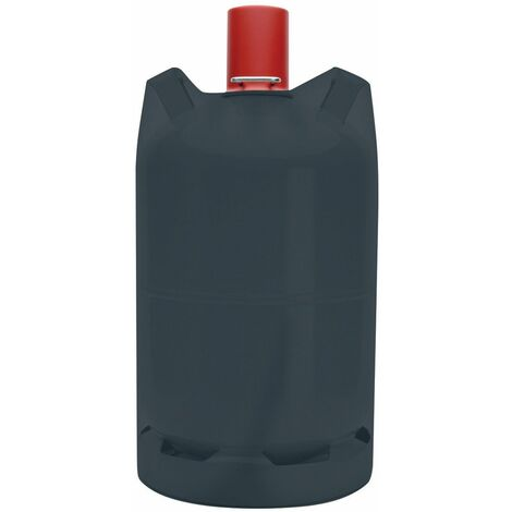 Tepro Schutzhülle Abdeckplane für 5 kg Gasflaschen Abdeckhaube schwarz 24x45cm