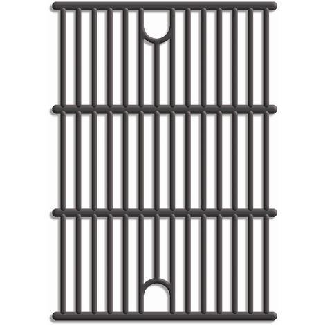 Tepro Universal Guss-Grillrost-Set 2 Stück, schwarz, Guss, Grillfläche: 2 x ca. 29,1 x 40,8 cm