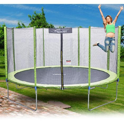 Terena® Trampolin 366 mit Sicherheitsnetz grün