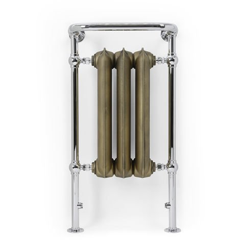 Terma Plain Chrome and Brass Designer Heated Towel Rails 900mm x 490mm