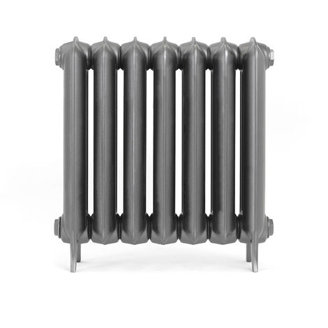 Terma Plain Raw Metal Cast Iron Horizontal Column Radiators 620mm x 606mm 2 Column