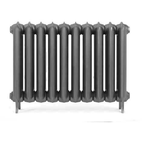 Terma Plain Raw Metal Cast Iron Horizontal Column Radiators 620mm x 852mm 2 Column