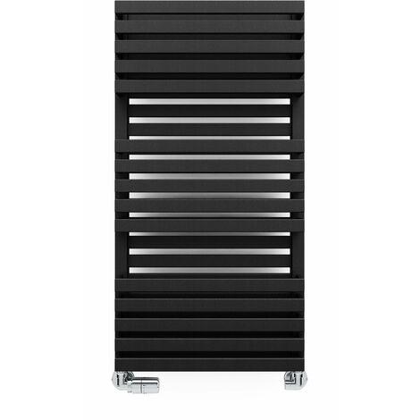 Terma Quadrus Bold 1185X600mm Towel Warmer 3798B Metallic Black