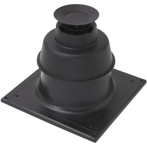 Terminal cheminée noir pour PPs flexible O80