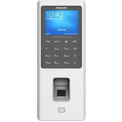 Terminal Control Accesos Presencia Por Codigo Tarjeta Huella Por USB Y Ethernet RJ45