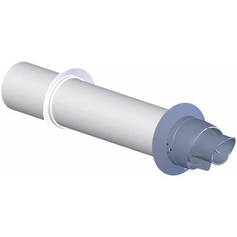 Terminal horizontal concentrique EconeXt polypropylène embout gris