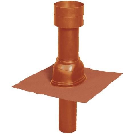 Terminal vertical de toiture pour raccordement chauffe-eau thermodynamique - Diamètre 125 - Couleur : Ocre