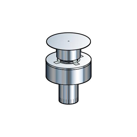 Terminal vertical inox - PGI pour poêles à Pellets - Diamètre 80/130