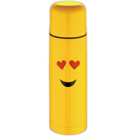 Termo Amarillo 28,5 cm (750ml) en acero inoxidable, enamorado - Emoticonworld