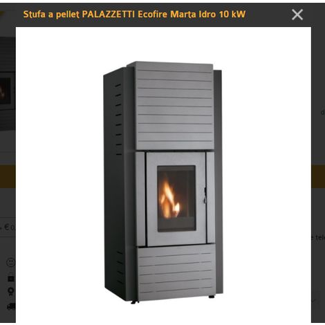 Termo stufa palazzetti marta idro 10 kw termostufa pellet ermetica