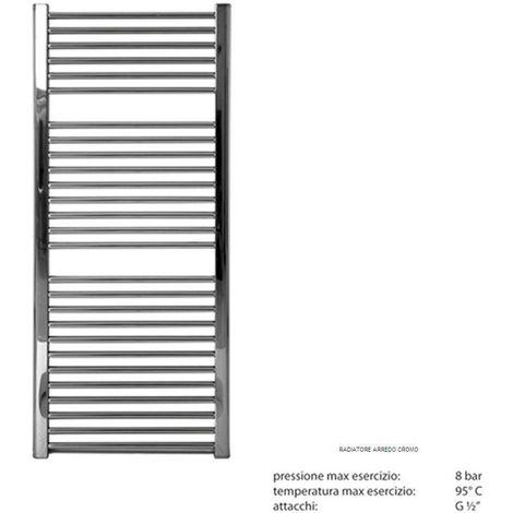 Termoarredo bagno scaldasalviette radiatore calorifero dritto cromo cromato