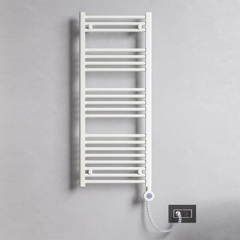 Termoarredo elettrico bianco 1800x500 Lazzarini E Bolzano 900 watt con altezza 1800 mm e termostato