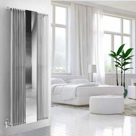 Termoarredo per bagno in acciaio con specchio Florian Plus