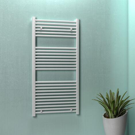 Termoarredo radiatore scaldasalviette da bagno bianco tubi dritti