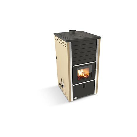 Termoestufa de leña y carbón hidro ROASTER 34KW - Crema