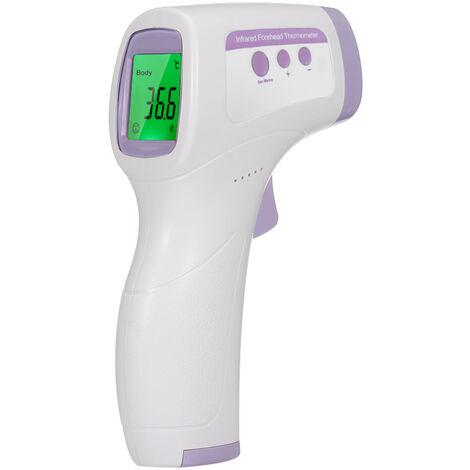 Termometro digital frontal, termometro infrarrojo para bebes, con alarma de fiebre