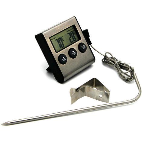 Termometro digital para cocinar alimentos, con sonda, para barbacoa