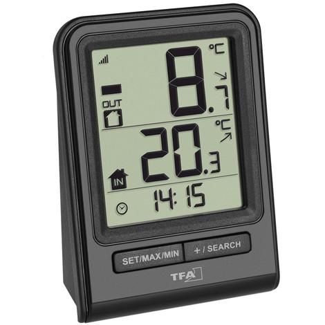 5b71756ac Termometro Digital Sensor Negro 67X93X35Mm - T.F.A. - 30.3063.01 ...