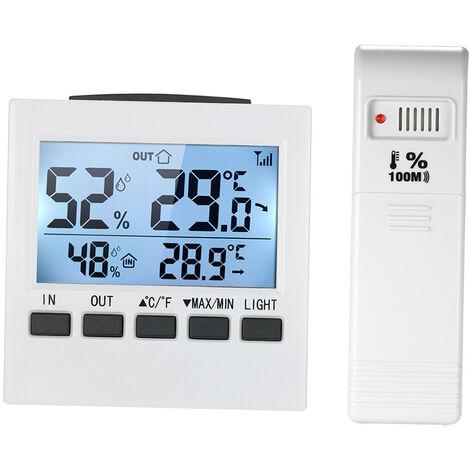 Termometro inalambrico Higrometro ¡æ / ¨H Temperatura Humedad Medidor