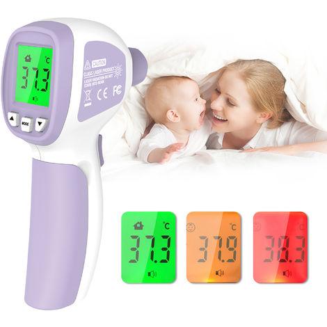 Termometro infrarrojo frontal sin contacto, con alarma de fiebre