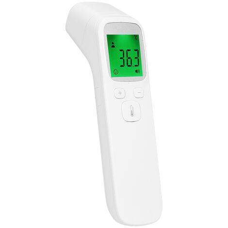 Termometro infrarrojo sin contacto, termometro de frente£¬retroiluminaci¨®n de tres colores