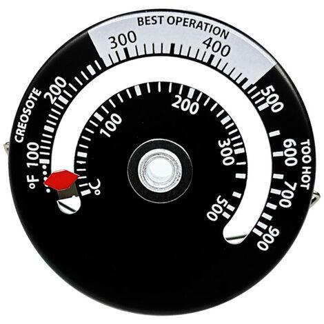 """main image of """"Termometro magnetico para estufa de lena Ventilador para chimenea Termometro para estufa con sonda, Medidor de temperatura para horno de barbacoa de alta sensibilidad para el hogar"""""""