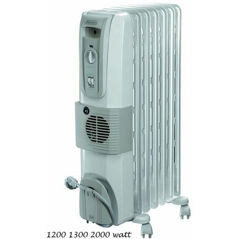 Termosifone Elettrico a Olio Ventilata 7 Elementi DeLonghi Radiatore Stufa Bagno