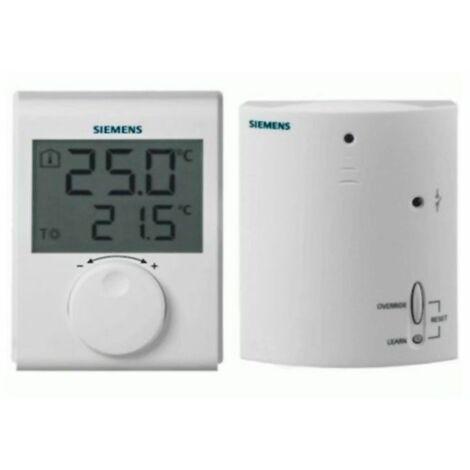 Termostato ambiente digital inalámbrico RDH100RF/SET de Siemens