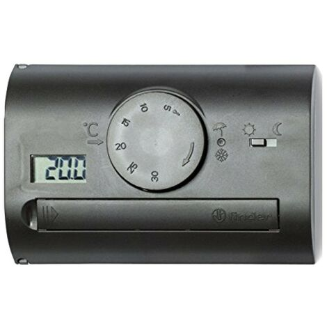 Termostato Buscador de pared negro analógico 1T4190032000