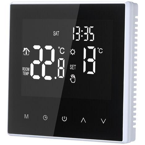 Termostato con controlador de temperatura digital, circulacion semanal programable, 16A