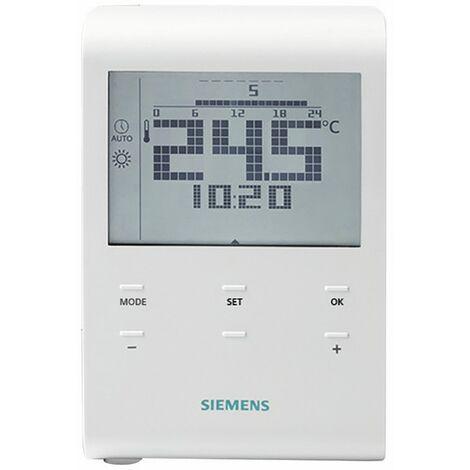 Termostato de ambiente programable con pilas - SIEMENS : RDE100.1
