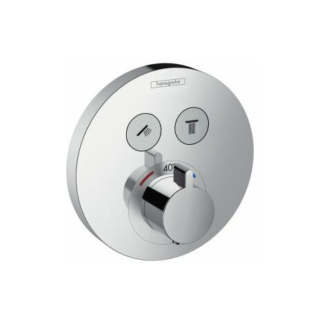 Termostato de ducha ShowerTablet ShowerSelect S, empotrado, 2 consumidores, cromado, color: cromado - 15743000