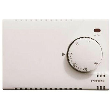 Termostato de pared de Perry Fuente de alimentación blanca 230V 1TITE301/MC