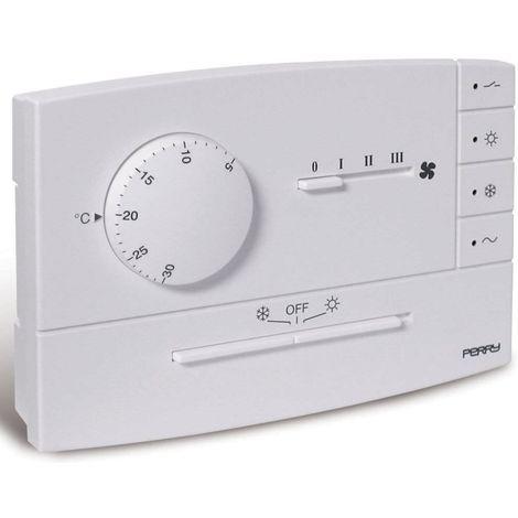 Termostato de pared para fan coil blanco cm 12x2,75x8,1 Perry 1TPTE565B