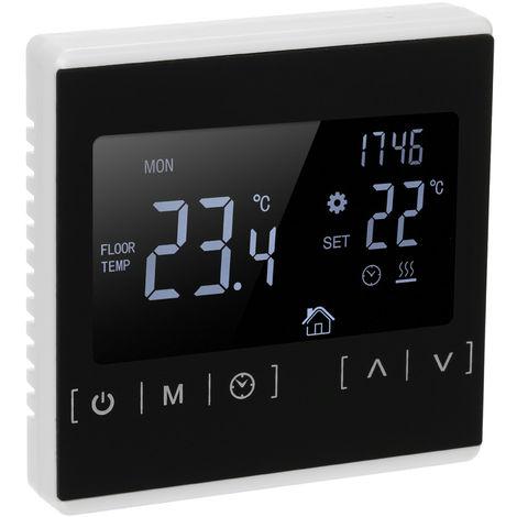 Termostato del controlador de temperatura AC85-240V, sistema de calefaccion de piso electrico, BLANCO