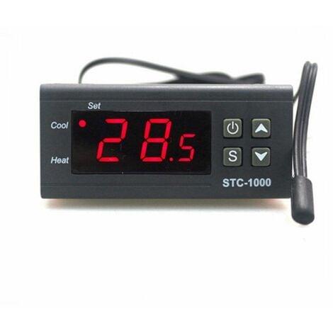 Termostato Digital 220V STC-1000 Frio y Calor Incubadoras Acuario con sonda teemperatura