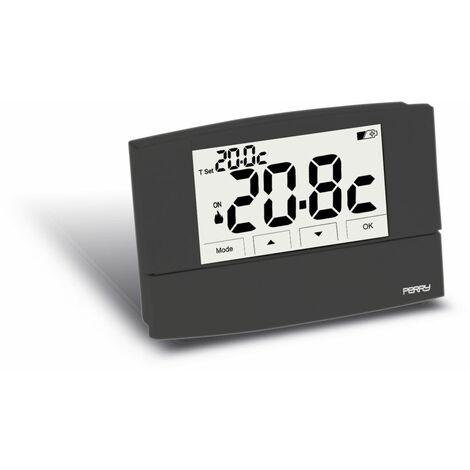 Termostato digital de pared negro Perry 1TPTE526A